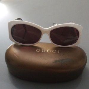 Gucci Floral GG 3079/S Black & White Sunglasses